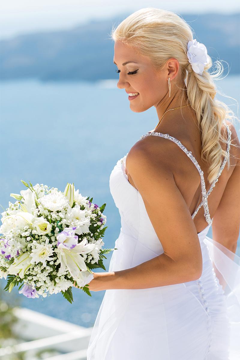 santorini-bride
